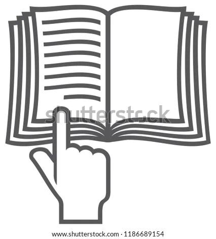 Manual Book Vector Symbol Instruction Icon Stock Vector