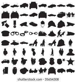 Police Silhouette Bilder, Stockfotos & Vektorgrafiken