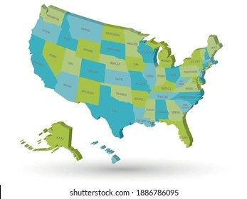 When the united states entered world war ii, thousands of postal employees left their jobs to join the military. Usa Map State Abbreviations Images Stock Photos Vectors Shutterstock