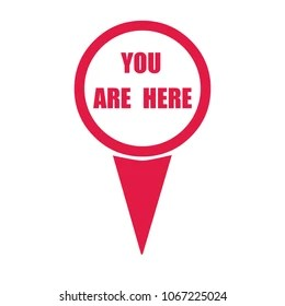 You are Here Icon Images. Stock Photos & Vectors   Shutterstock