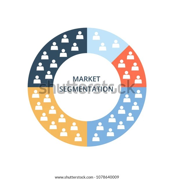 Market Segmentation Vector Icon Color Circle 庫存矢量圖(免版稅)1078640009