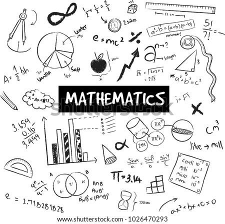 Math Theory Mathematical Formula Equation Model 스톡 벡터(사용료