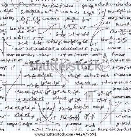Mathematical Vector Seamless Pattern Background Formulas