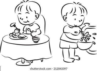Washing Hands Cartoon Images, Stock Photos & Vectors