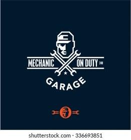 mechanic logo images stock