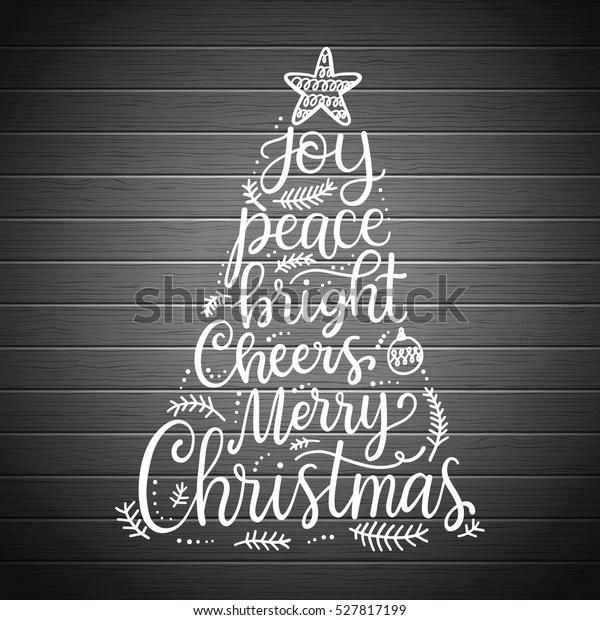 merry christmas phrases hand