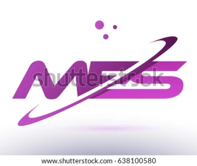 Mes M E S Alphabet Letter Logo Combination Purple Pink Creative Text Dots Company Vector Icon Design Template