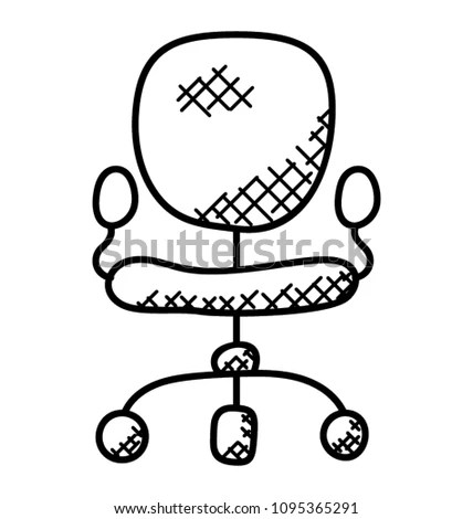 chair for office use henredon arabesque dining chairs mesh revolving swivel stock vector royalty free a