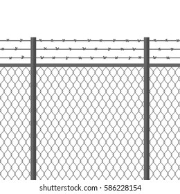 Barbed Wire Fence Images, Stock Photos & Vectors