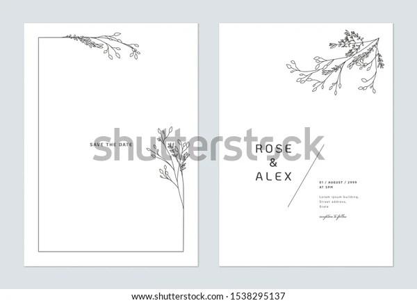 https www shutterstock com image vector minimalist wedding invitation card template design 1538295137