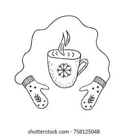 Kids Drinking Tea Winter Stock Vectors, Images & Vector