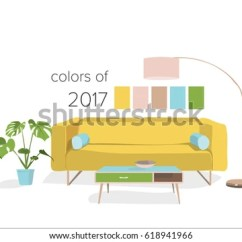 Cozy Living Room Color Palette Neutral Paint Colours For Uk Modern Stock Vector Royalty Free With Trends 2017 2018 Interior Design