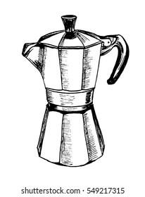 Italian Coffee-maker Images, Stock Photos & Vectors
