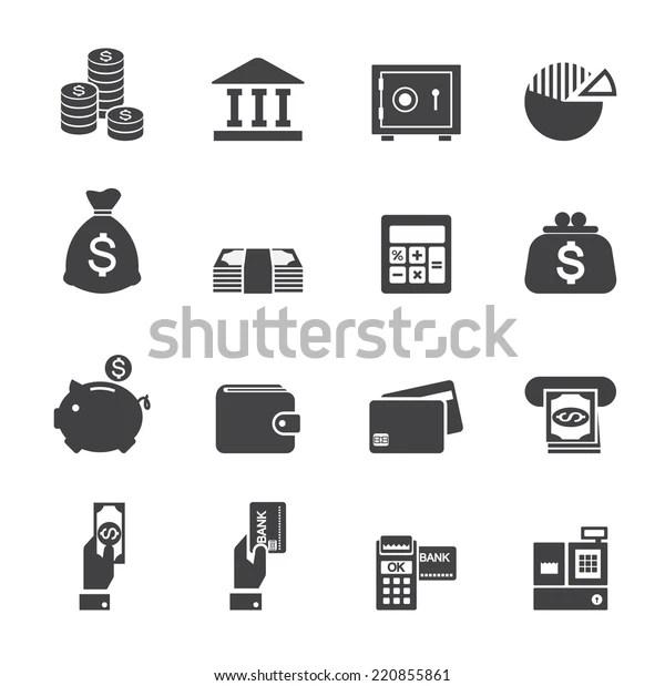 Immagine vettoriale stock 220855861 a tema Money Finance