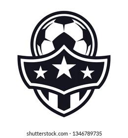 Monochrome Football Badge Stock Vectors, Images & Vector