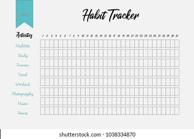 Habits Tracker Stock Images, Royalty-Free Images & Vectors