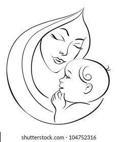 Mother And Baby Images Drawing : mother, images, drawing, Mother, Stock, Images, Shutterstock