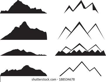 Mountains Silhouette Images, Stock Photos & Vectors