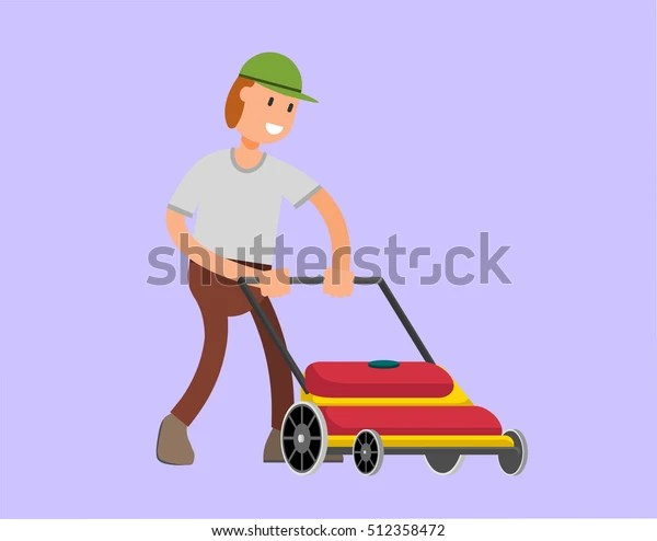 Mow Lawn Grass Vector Flat Stock Vector Royalty Free 512358472