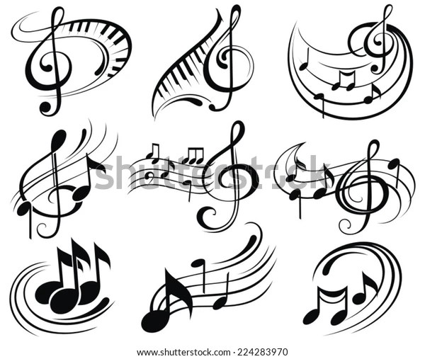Music Notes Stock Vector (Royalty Free) 224283970