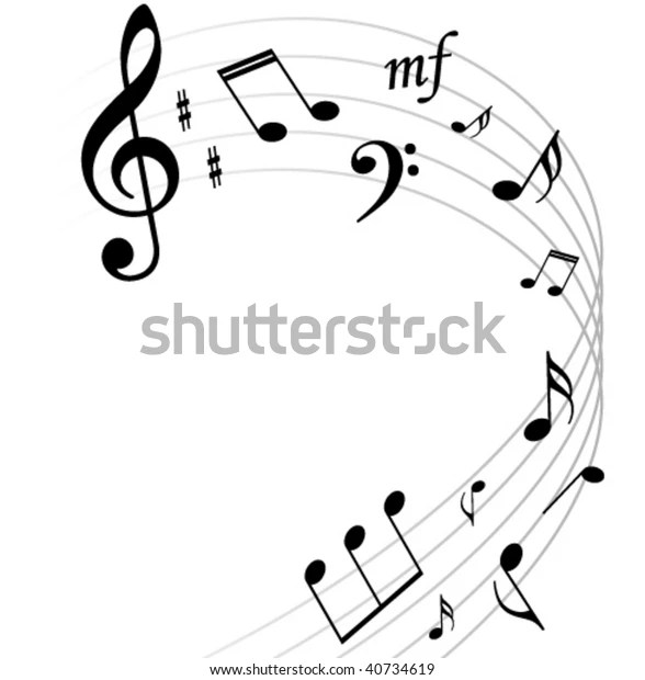 Music Notes Background Stock Vector (Royalty Free) 40734619