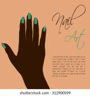 woman hand silhouette stock