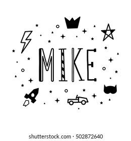 Michael Name Image Images, Stock Photos & Vectors