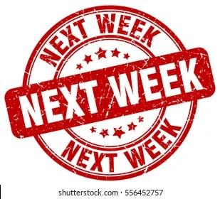 Next Week Images. Stock Photos & Vectors | Shutterstock