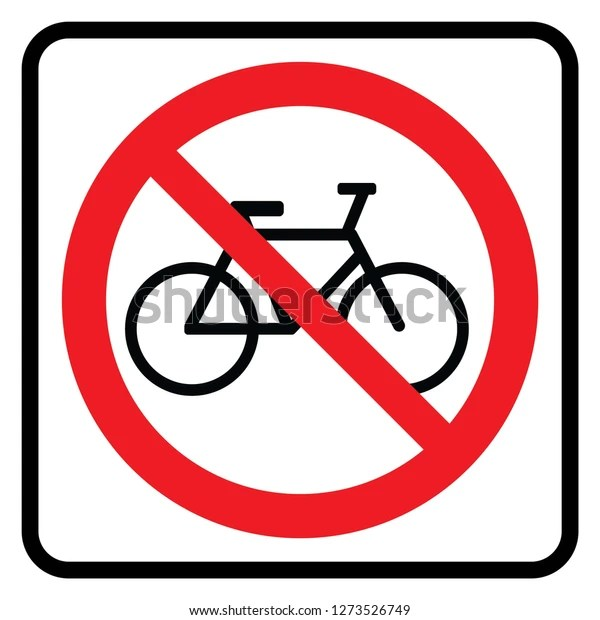 no bicycle sign dont