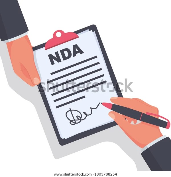 It is a contract through which the parties agree not to disclose any information covered by the agreement. Vektor Stok Non Disclosure Agreement Document Signature Nda Tanpa Royalti 1803788254