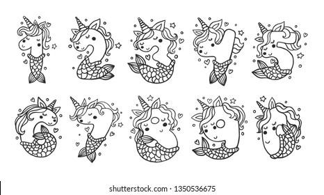 Unicorn Number Nine Images, Stock Photos & Vectors