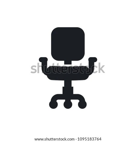 office chair vector ergonomic cape town icon stock royalty free 1095183764