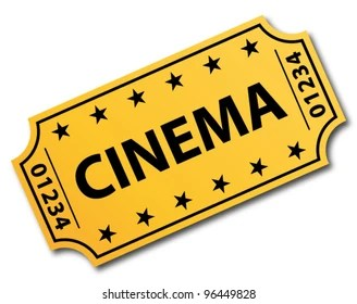cinema ticket images stock