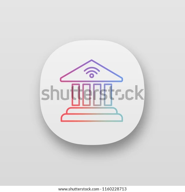 Online Banking App Icon Account Balance Stock Vector Royalty Free 1160228713