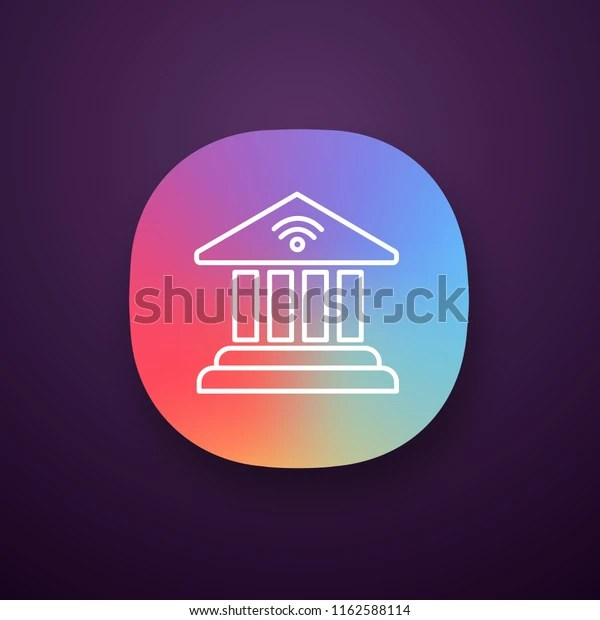 Online Banking App Icon Account Balance Stock Vector Royalty Free 1162588114