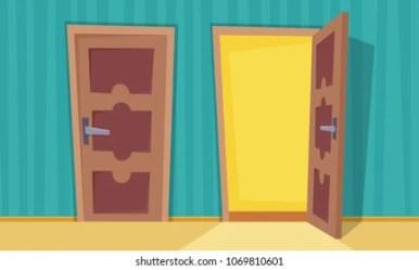 open close doors cartoon shutterstock