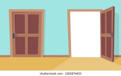 cartoon door open close doors vector window shutterstock doorway pattern