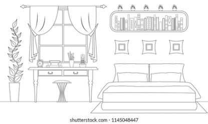 Interior Coloring Pages Images Stock Photos & Vectors Shutterstock