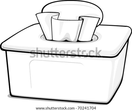 Outline Generic Box Wipes Stock Vector (Royalty Free