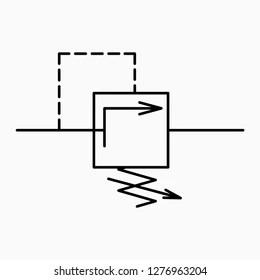 Piv valve symbol