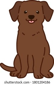 Chocolate Lab Puppy Cartoon Pattern Adult Adjustable Face