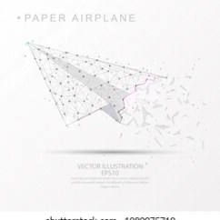 Paper Airplane Diagram Of Parts 4 Way Switch Wiring Pdf Plane Icon Images Stock Photos Vectors Shutterstock Shape Point Line And Composition Digitally Drawn In The Form Broken A