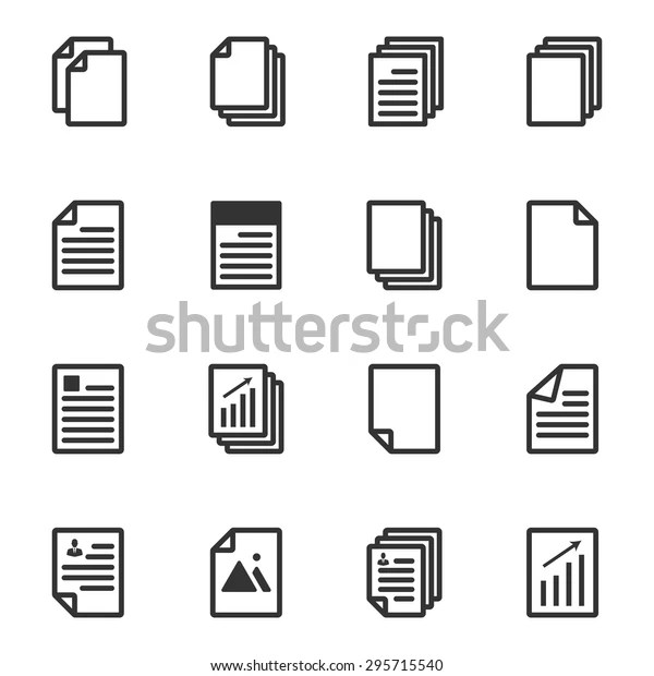 Paper Icon Document Icon Vector Eps10 Stock Vector