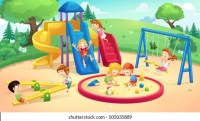Cartoon Park Playground Images, Stock Photos & Vectors ...