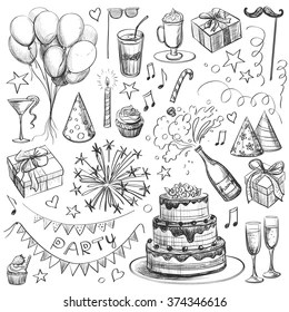 Birthday Party Drawing Images Stock Photos Vectors Shutterstock