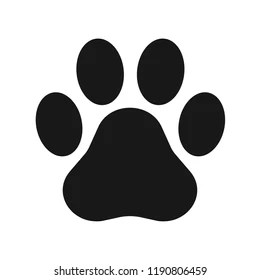 lion paw print stock