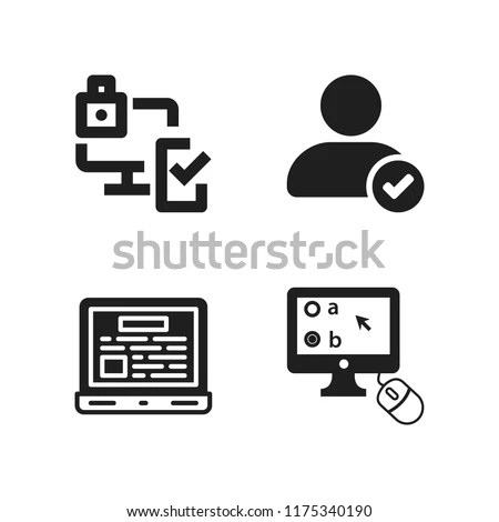 Pc Icon 4 Pc Vector Icons Stock Vector (Royalty Free