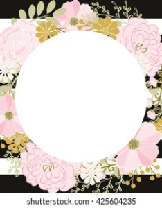Shutterstock also rose gold floral border images stock photos  vectors rh