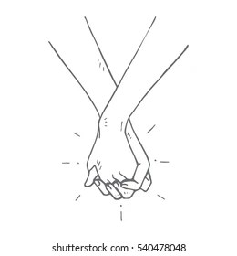 Hand Holding Outline Images, Stock Photos & Vectors