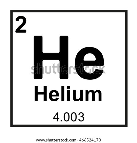 Periodic Table Element Helium Stock Vector (Royalty Free